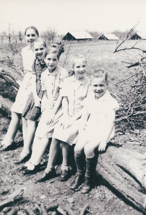 The Luke and Martha Keefer family in the 1940s. Luke Keefer Jr. at far right.
