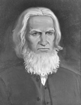 A charcoal drawing of Jacob Engel, considered by many to be the father of the contemporary Brethren in Christ Church. (Brethren in Christ Historical Library and Archives)