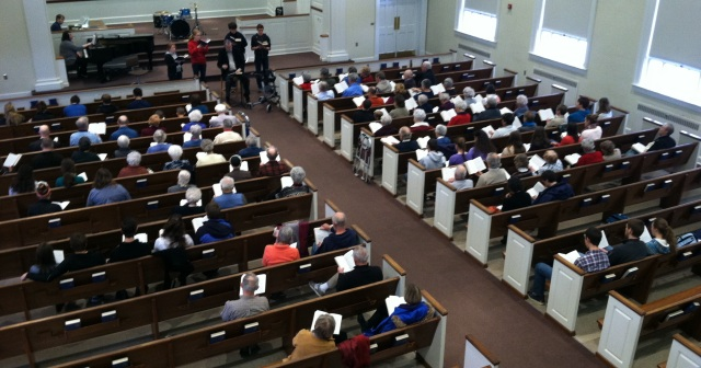 In January 2014, over 100 people turned out for a Brethren in Christ hymn sing, led by Dr. Dwight Thomas. The hymn sing was organized as part of a course I was teaching at Messiah College.