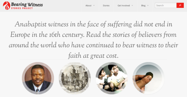 The Bearing Witness Stories Project website