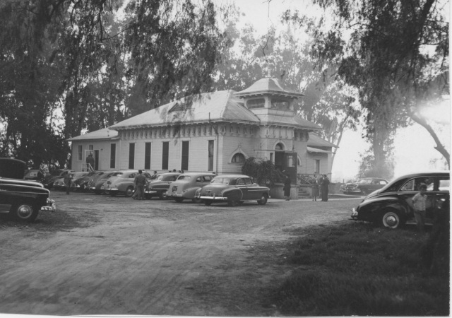 The earliest meeting space for the Chino Brethren in Christ congregation: a converted schoolhouse that had formerly housed an interdenominational Sunday school program (Brethren in Christ Historical Library and Archives)