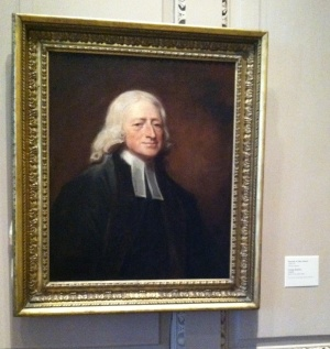 English artist George Romney's 1788-89 portrait of John Wesley, on display at the Philadelphia Museum of Art