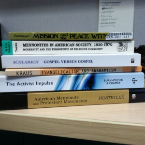 Books exploring the interactions between Anabaptists and Evangelicals