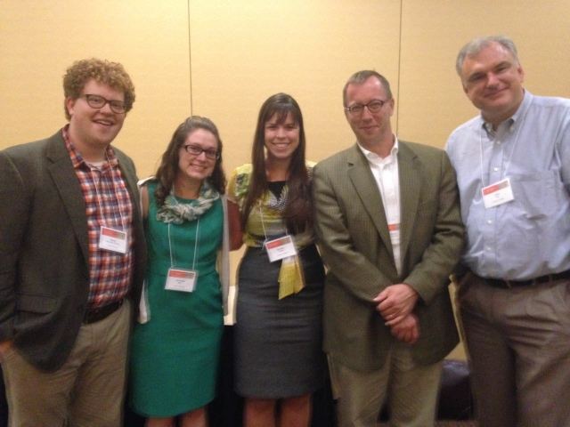 Messiah College historians at CFH: me, Amanda Mylin (2012 alumna), Brooke Strayer (2014 alumna), and James LaGrand and John Fea (current History Department faculty). (Courtesy of John Fea)
